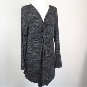 Soft Surroundings Heather Grey Twist Front Dress